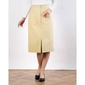 ウール両ポケタイトスカート (イエロー)