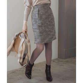 ラメツイードコクーンスカート (ブラック)