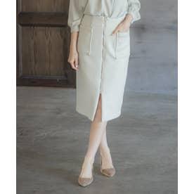 ダンボールカルゼ両ホポケタイトスカート (オフホワイト)