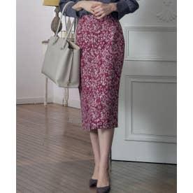 ゴブラン調ジャガードタイトスカート (ピンク)