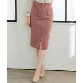 フェイクスエード両ポケタイトスカート (ピンク)