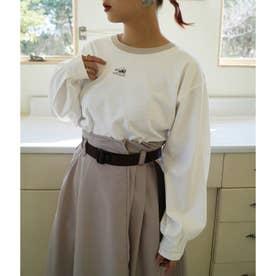 シロクマプリント長袖Tシャツ (28オフホワイト)