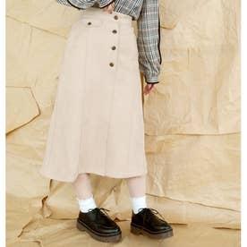 フェイクスエードタイトスカート (28オフホワイト)