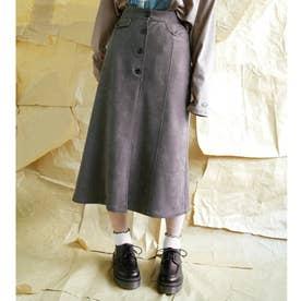 フェイクスエードタイトスカート (39チャコールグレー)
