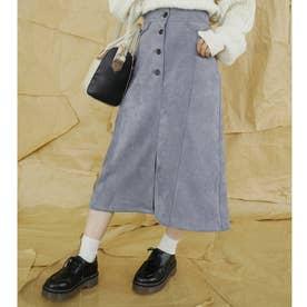 フェイクスエードタイトスカート (60ブルー)