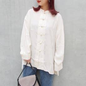 チャイナボタンオーバーシャツ (28オフホワイト)