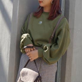 シロクマ刺繍裏起毛スウェット (46カーキ)