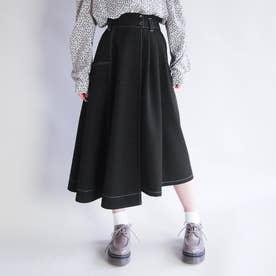 アシンメトリースカート (49ブラック)