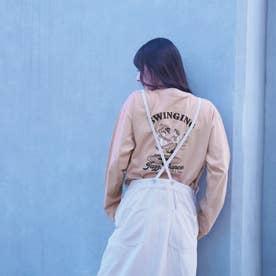 バック刺繍ロングスリーブTシャツ (08ピンク)