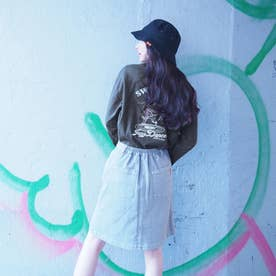 バック刺繍ロングスリーブTシャツ (39チャコールグレー)