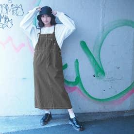 ロングジャンパースカート (40グリーン)