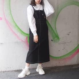 ロングジャンパースカート (49ブラック)