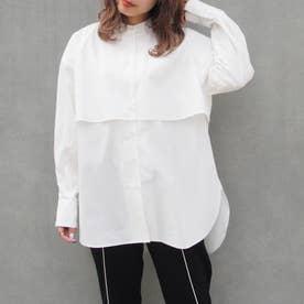 ケープ風オーバーサイズシャツ (28オフホワイト)