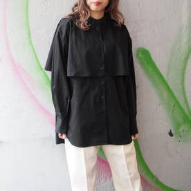 ケープ風オーバーサイズシャツ (49ブラック)