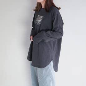 チュニックロングスリーブTシャツ (39チャコールグレー)