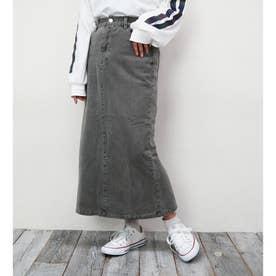 ピグメントデニムタイトスカート (39チャコールグレー)