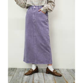 ピグメントデニムタイトスカート (80パープル)