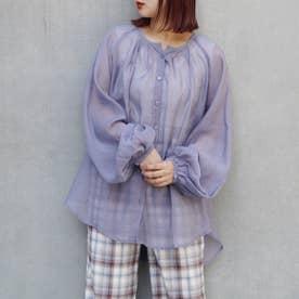 【WEB限定】ノーカラーシアーシャツ (80パープル)