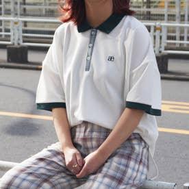配色BIGポロシャツ (28オフホワイト)