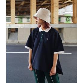 配色BIGポロシャツ (67ネイビー)
