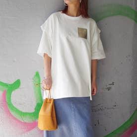 カッティングTシャツ (28オフホワイト)
