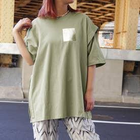 カッティングTシャツ (46カーキ)