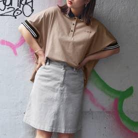 ビッグシルエットポロシャツ (08ピンク)