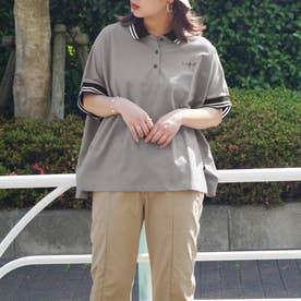 ビッグシルエットポロシャツ (60ブルー)