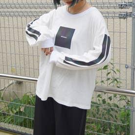 オーロラプリントロングTシャツ (28オフホワイト)