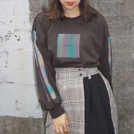オーロラプリントロングTシャツ (39チャコールグレー)