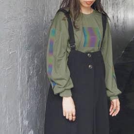 オーロラプリントロングTシャツ (40グリーン)