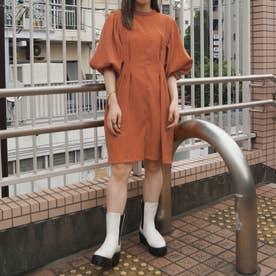 ボリューム袖ワンピース (10オレンジ)