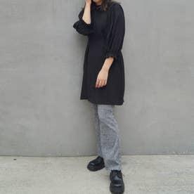ボリューム袖ワンピース (49ブラック)