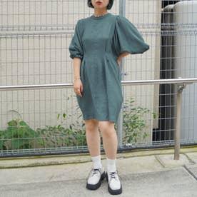 ボリューム袖ワンピース (60ブルー)