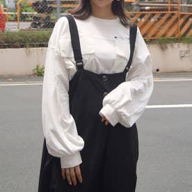 ダブルポケットロングTシャツ (28オフホワイト)