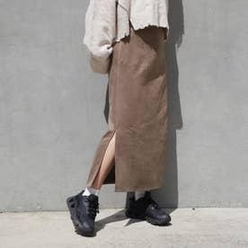 カットスウェードスカート (13ブラウン)