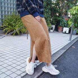 カットスウェードスカート (15キャメル)