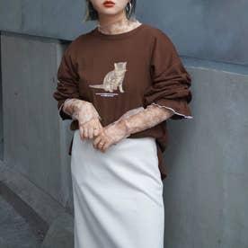 アソートプリントキャンディースリーブTシャツ (13ブラウン)