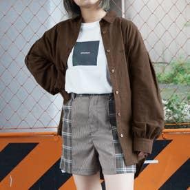 カレッジロゴレギュラーシャツ (13ブラウン)