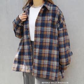 BEVERLY HILLS POLO CLUBコラボチェックシャツ (67ネイビー)