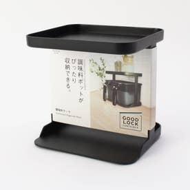 MARNA (マーナ) 調味料ラック K749 BK (ブラック)