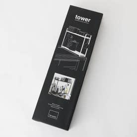 tower (タワー) コンロ横ラック2段 タワー BK (ブラック)