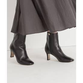 【中村アンさん着用】レザーショート ブーツ(番号2G58) (ブラック系)