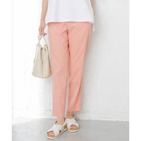 【中村アンさん着用】リネンビスコーステーパード パンツ(番号H52) (ピンク系)