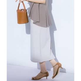 【マガジン掲載】リーフエンブロイダリーローン スカート(番号2K28) (アイボリー系)