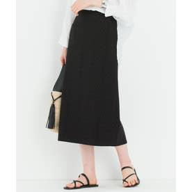 【マガジン掲載】リーフエンブロイダリーローン スカート(番号2K28) (ブラック系)