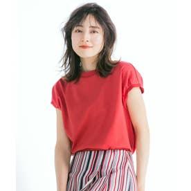 【マガジン掲載】コットンピケ フレンチスリーブ プルオーバー(番号2K43) (レッド系)