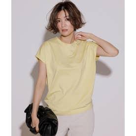 【洗える】コットンジャージー フレンチスリーブ Tシャツ (レモン系)