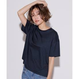 【洗える】コットンジャージー ポケット Tシャツ (ネイビー系)
