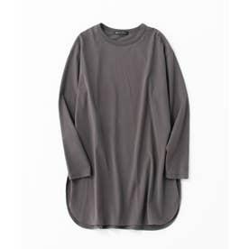 【洗える】コットンベアジャージー レイヤード Tシャツ (グレー系)